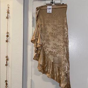 Satin High Low Skirt